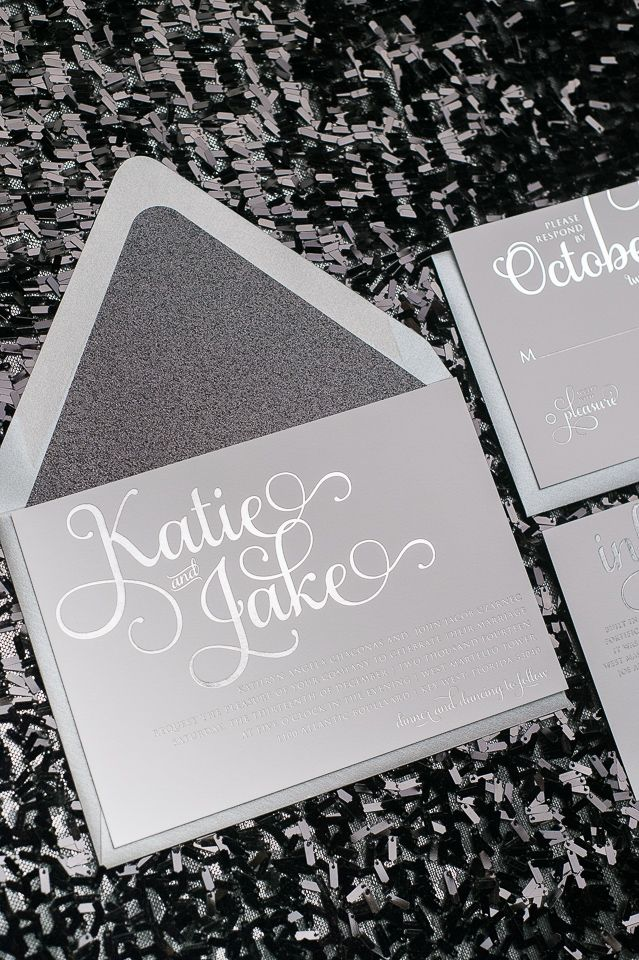 Our ADELE Suite Wedding Invitations Featured in