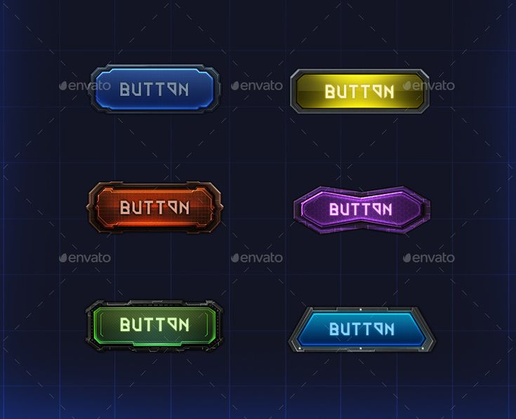 Cybernetic Buttons | GraphicRiver