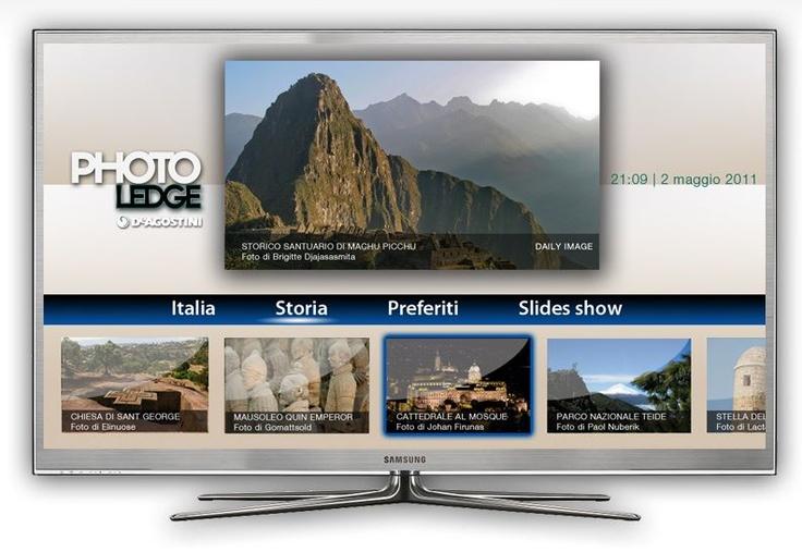 """vetrya :: smart tv Samsung    Le più belle foto di DeAgostini sulla tua smart tv Samsung scaricando l'app gratutita """"PhotoLedge"""""""