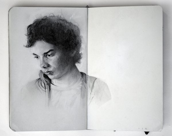 Artist Draws Beautiful Emotive Portraits Of His Friends With Graphite - DesignTAXI.com