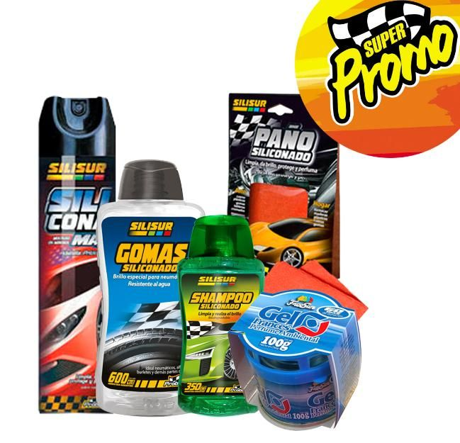 promo Tuning Silisur Freesur kit de 5 productos para el mantenimiento para el auto - José Clemente Paz