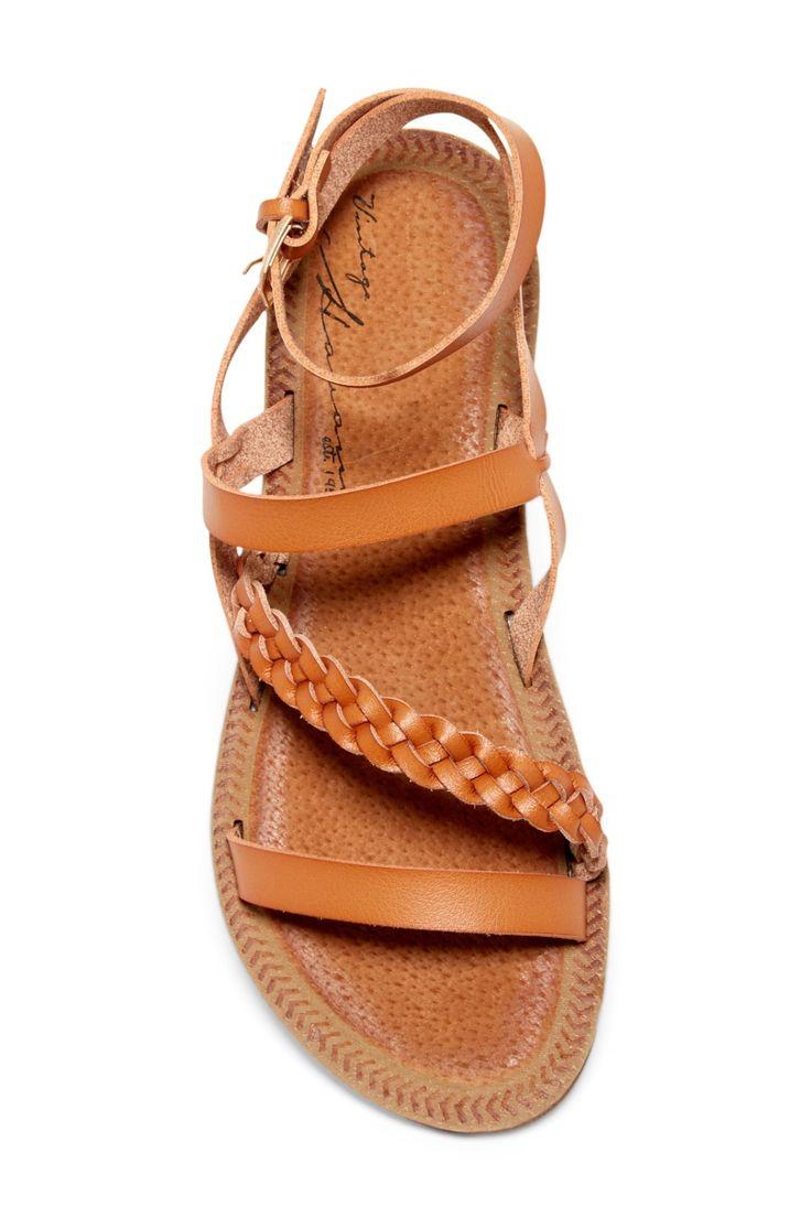 Classic Tan Vintage Havana Courtney Strappy Braided Sandals