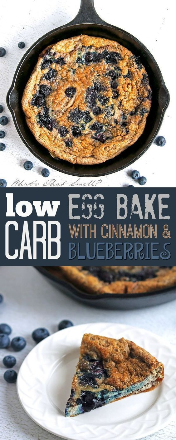 Low Carb Egg Bake with Blueberries and Cinnamon - Gluten-free, paleo, this baked egg dish is slightly sweet thanks to the blueberries and while it seems like a weird combination, it is very tasty!