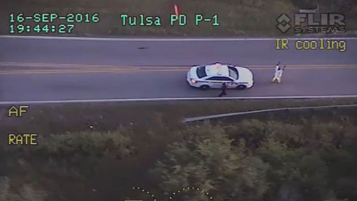 #BLM #BlackLivesMatter should matter to ALL people. #EnoughIsEnough Our police need to stop killing black Americans> The Tulsa Police Department released several different videos showing the incident that ended with an officer shooting and killing Terence Crutcher on September 16, 2016.