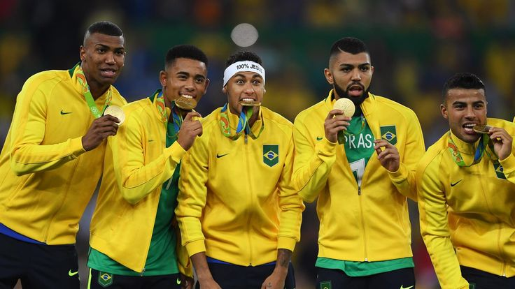 Brazil has won the gold medal in the men's Olympic football for the first ever time by beating Germany 5-4 on penalties