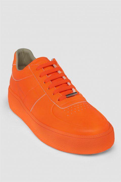ed2d370c836 MAISON MARGIELA 22 Sub Low Neon Orange Sneakers 1   Shoes│Sport ...