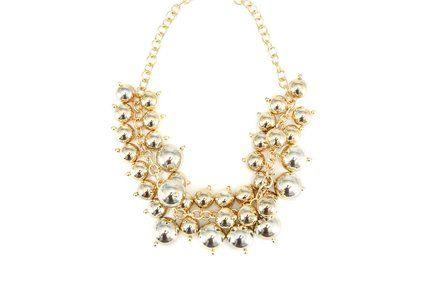 Zlatý náhrdelník OJJU Grappolo
