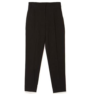 STRETCH HIGH WAISTED DOBBY PANT