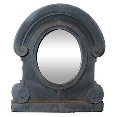 1stdibs.com | Large Oeil de Boeuf Zinc Mirror