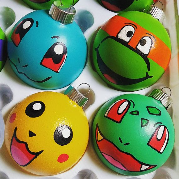 This listing is for one Pokemon ornament your choosing (please message me which character you would prefer)! These fun, brightly colored ornaments are a great addition to any Pokemon lovers tree! Ornaments are hand painted with acrylic paint and sealed with a chip and stain resistant acrylic sealant. These ornaments can either be glass or plastic (safe for the little ones!) And are made to order! If you purchase 3 or more, we will send you a 4th one for free