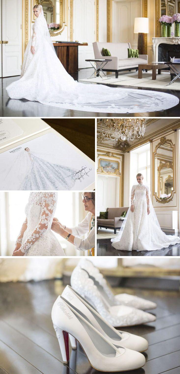 nicky hilton wedding gown
