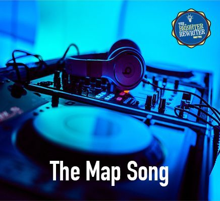 """Map song sung to the tune of """"My Bonnie Lies Over the Ocean"""" teaches the definition of a map and 5 important map elements: title, scale, legend, grid and compass rose!"""