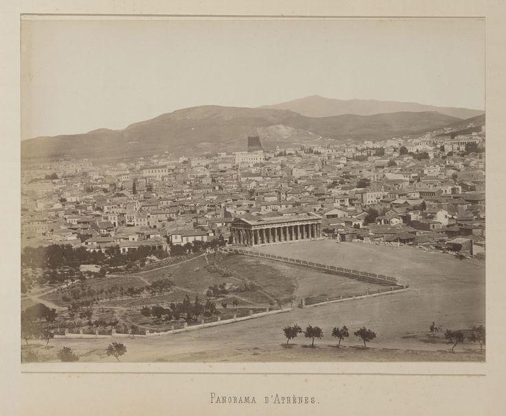 Vue générale de la ville d'Athènes, panorama, épreuve n°                     2/6 © Musée Guimet, Paris, Distr. Rmn / Image Guimet