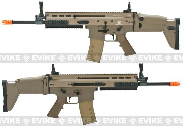 FN Herstal Full Metal SCAR Light STD Airsoft AEG Rifle by VFC - Dark Earth