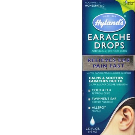 Hyland's Earache Drops, Natural Homeopathic Cold & Flu Earaches, Swimmers Ear and Allergies Relief, 0.33 Ounce - 2