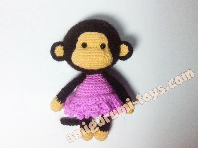 Обезьянка амигуруми. Схема вязания игрушки.