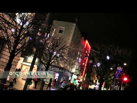 Video of Christmas Lights done on O'Connell Street Dublin 1