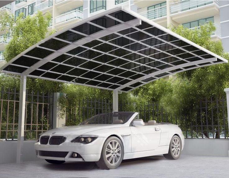 High Grade Easy DIY Elegant Aluminium/Solid PC Single Carport/Garages/Car Shelter