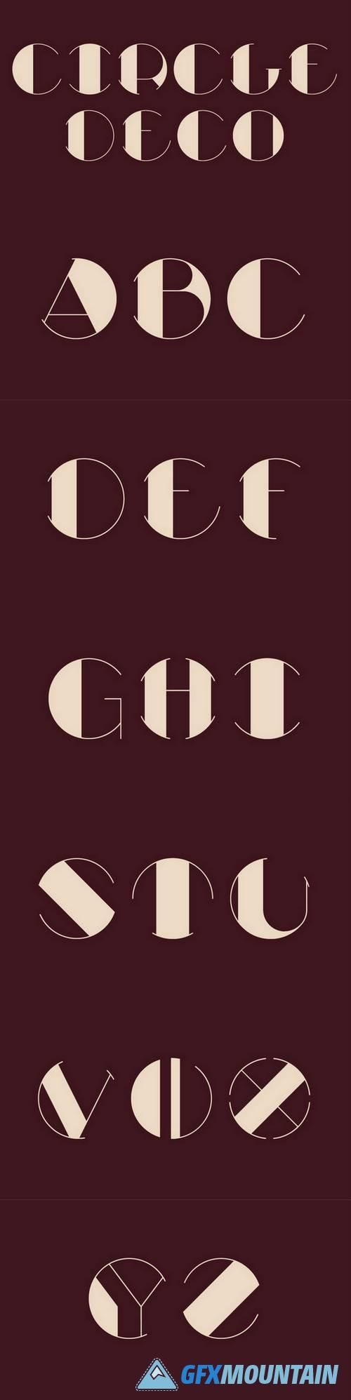 Circle Deco free font is an Art Deco typeface