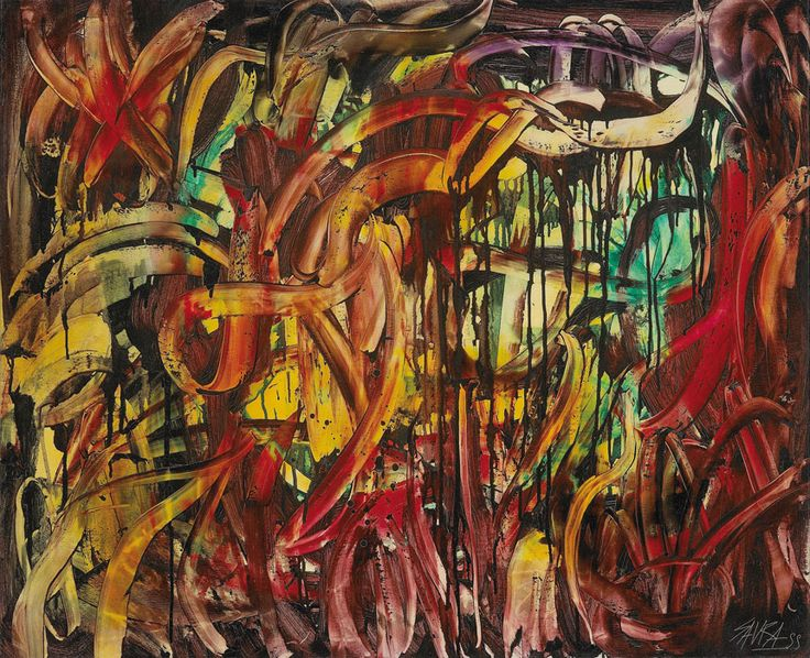 Antonio Saura: Grattage, 1955