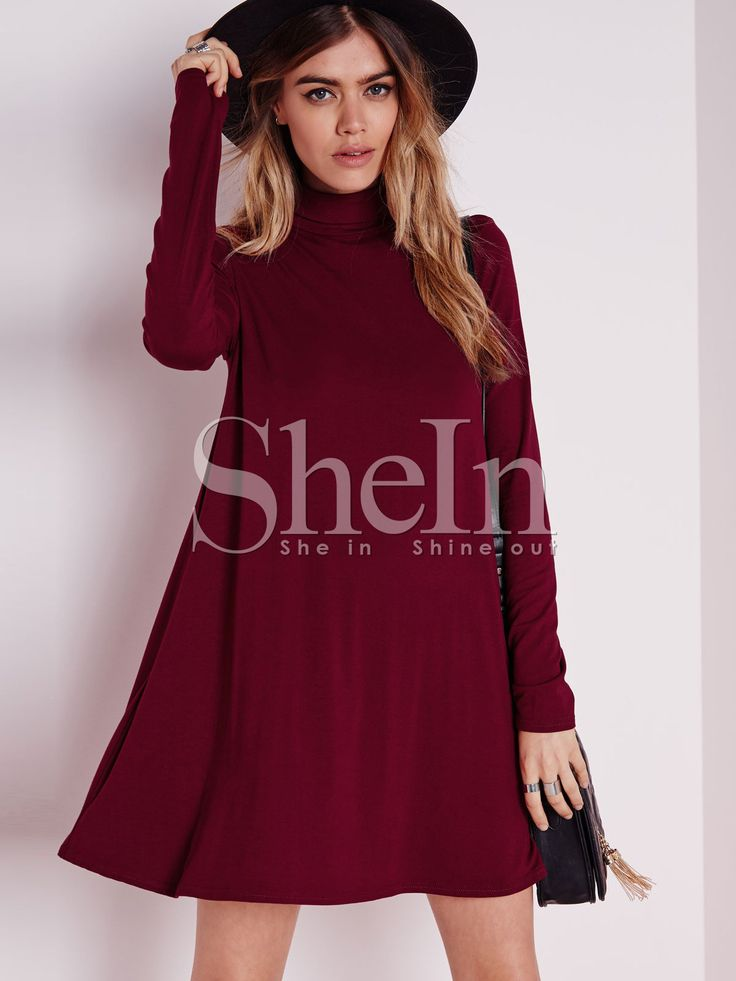 Shop Wine Red Long Sleeve Casual Dress online. SheIn offers Wine Red Long Sleeve Casual Dress & more to fit your fashionable needs.