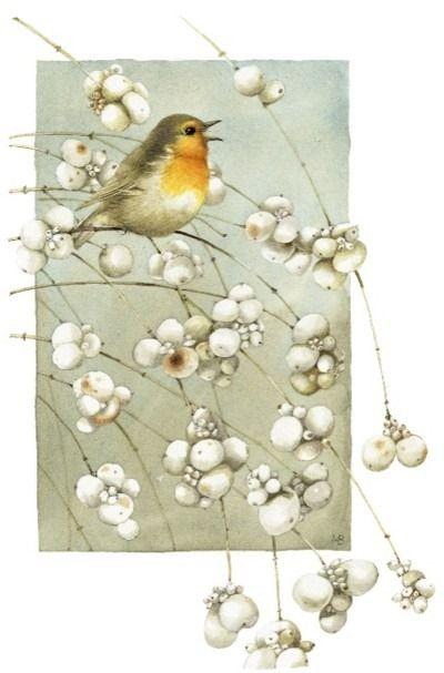 Little bird on a branch ~ Marjolein Bastin