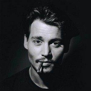 Johnny Depp smoking on his black and white photo! ♥ See more celebrity trivia at www.celebritysize... ♥ #celebritysizes Pinned from