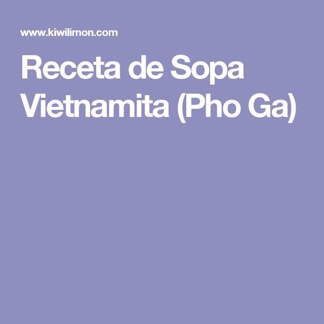 Receta de Sopa Vietnamita (Pho Ga)
