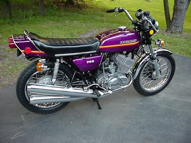 kawasaki 750 triple | Purple Kawasaki H2-750 triple