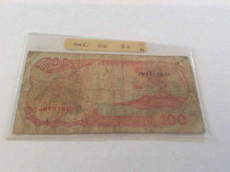 Indonesia 100 Rupiah Banknote Serial Number JMY019501 Date 1992 Initial JMY