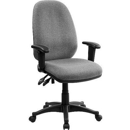Ergonomic Computer Chair with Height Adjustable Arms, Multiple Colors, Gray