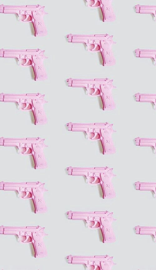 Imagem de gun, pink, and wallpaper