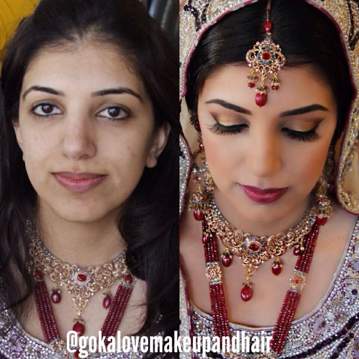 Indian Bridal Makeup Before And After