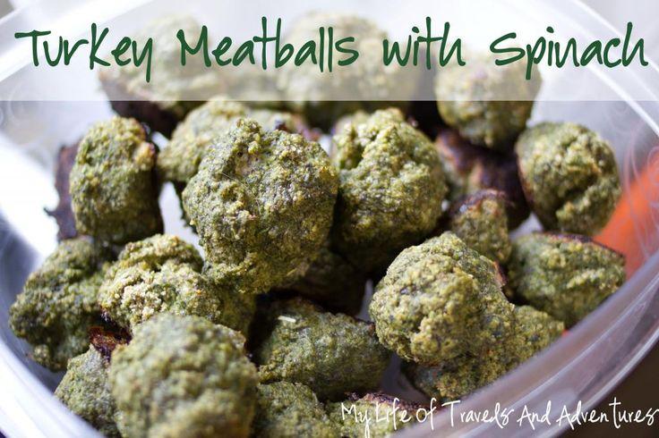 Turkey Meatballs (with Spinach)  | #Meatball #Turkey #Spinach #Dinner #Recipe #FreezerMeal #MakeAhead