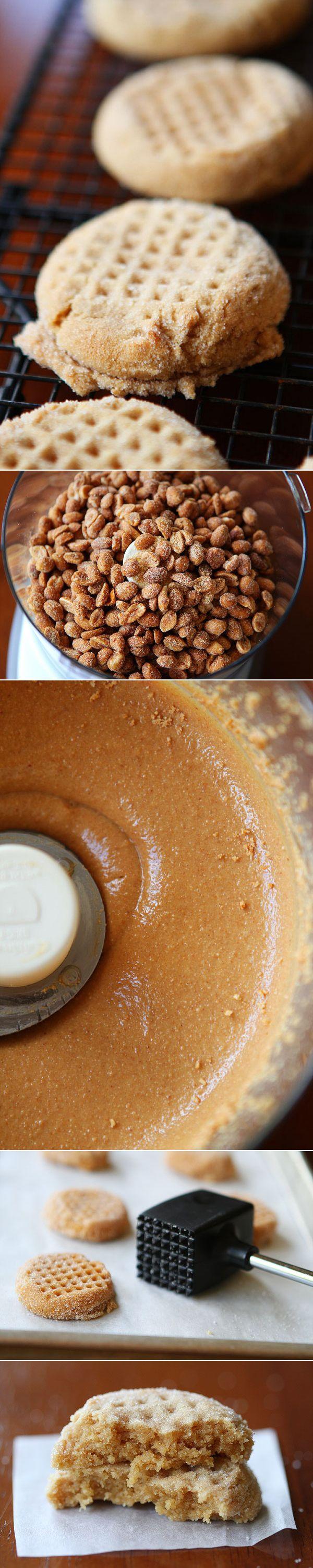Homemade Honey Roasted Peanut Butter Cookies.