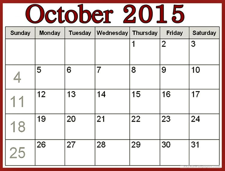 Free Download October 2015 Calendar India Pictures, Images, Templates, Holidays, Events, Usa, Uk, America, Nz, Australia, Canada, Blank Pages, Festivals