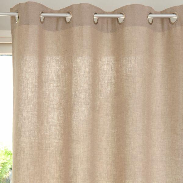 rideaux lin rideaux oeillets rideaux