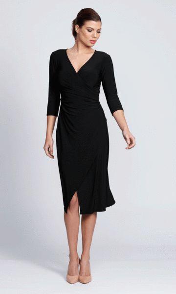 Carolina wrap dress in black