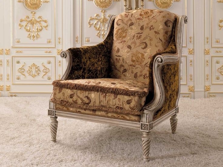 Reproduction of an original antique Louis XV chair, hand carved.