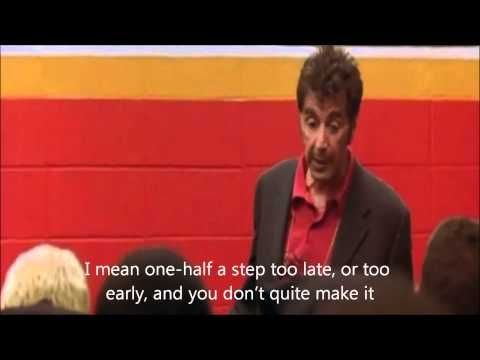One of the best sports speech ever from the movie Any Given Sunday