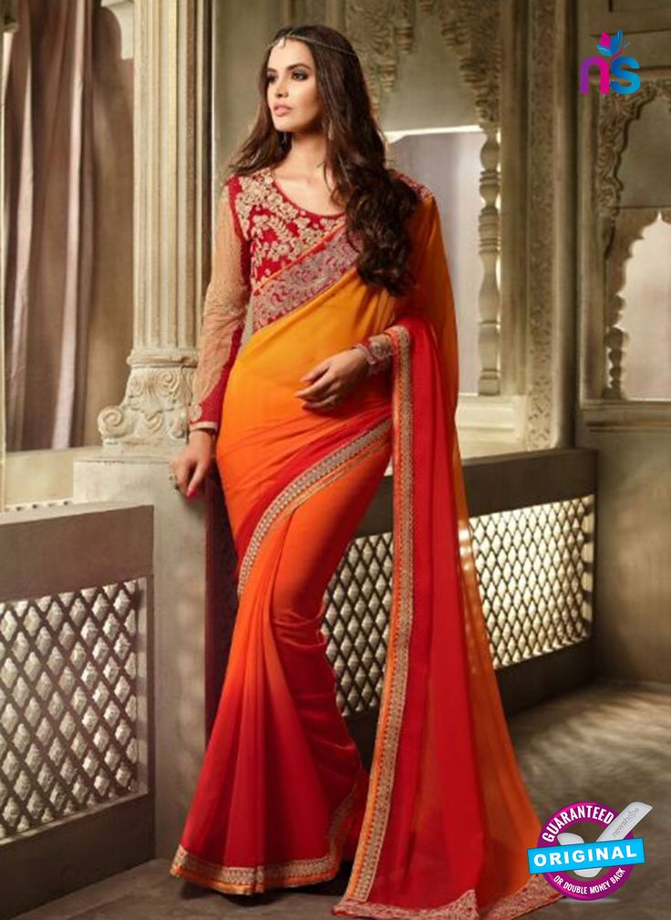 Add a glint of light in your beauty by wearing this amazing and trendy Saree.