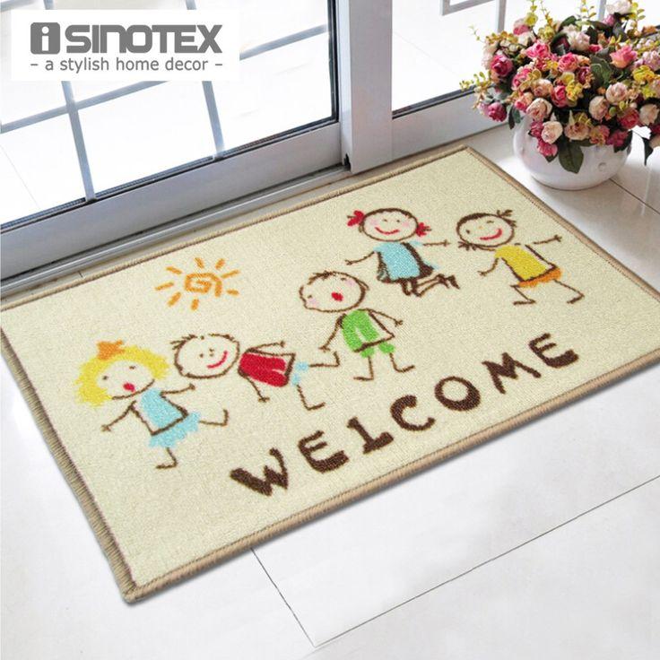 Welcome Doormat 40x60cm Cartoon Kids printed tapetes bath mat for Children living room bathroom carpet nylon mats Wholesale rugs