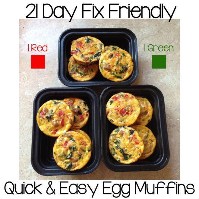 Quick and Easy Egg Muffins To order 21 Day Fix: www.beachbodycoach.com/RacheleLee