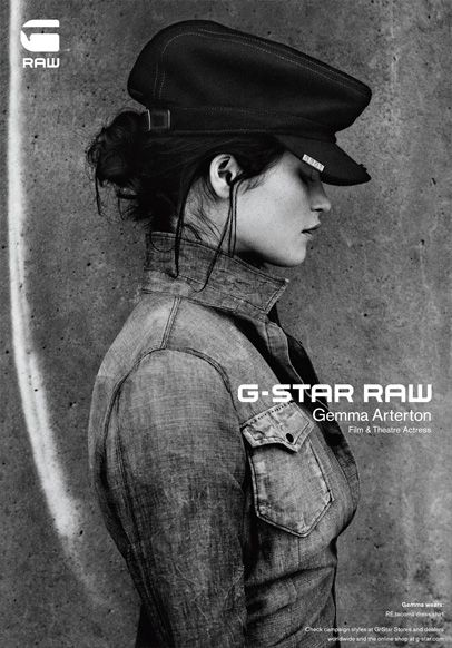 Gemma Arterton in G-Star RAW 2011-2012 Fall Winter Campaign : Designer Denim Jeans Fashion : Season Lookbooks, Ad Campaigns and Linesheets