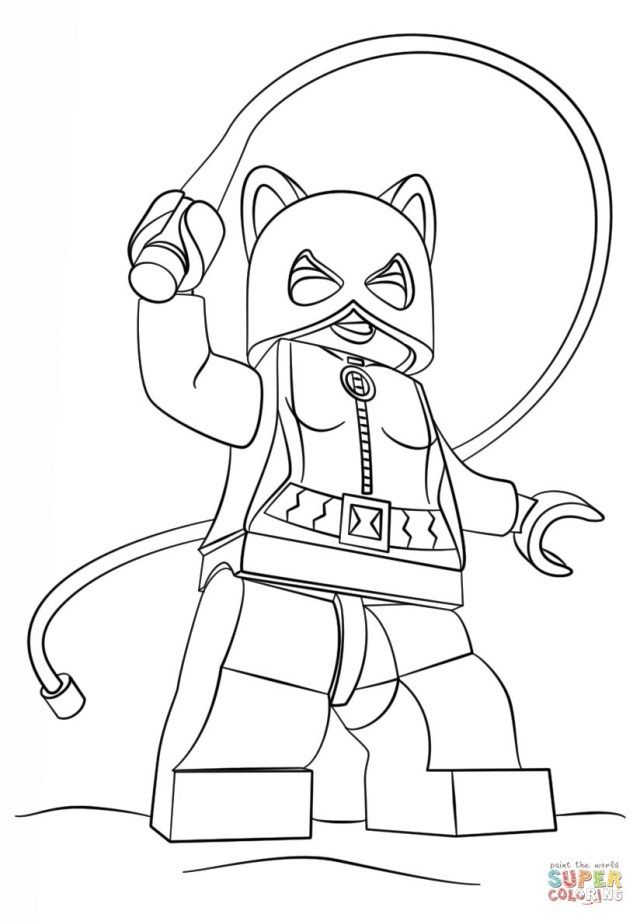 Inspiration Image Of Catwoman Coloring Pages Albanysinsanity Com Lego Coloring Pages Lego Coloring Superhero Coloring Pages