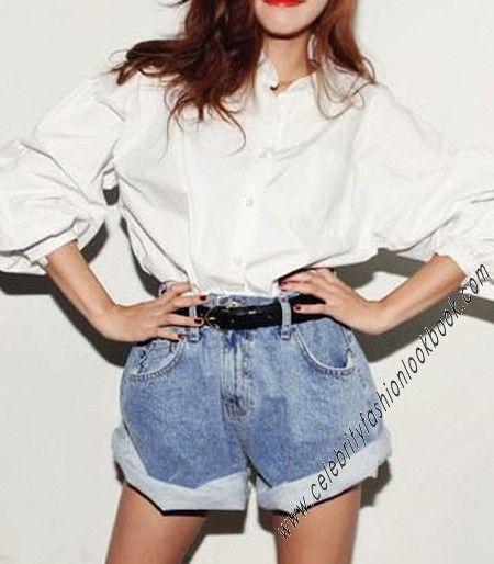 Rolled Up Jean Shorts US$27.74  Free shipping worldwide  #denim #shorts #fashion