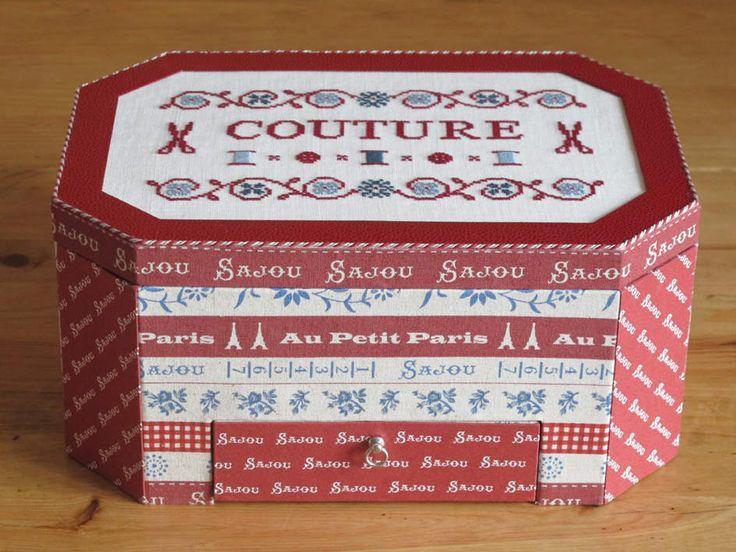 Boite couture ou coffret de brodeuse mod le de dominique for Kit boite a couture
