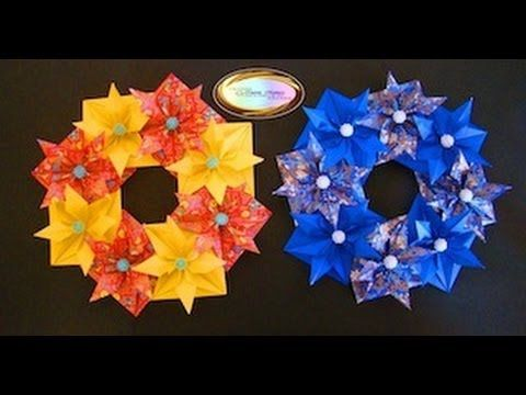 Origami Maniacs 93: Beautiful Christmas Wreath....... Link download: http://www.getlinkyoutube.com/watch?v=AX_1xGsEy3s