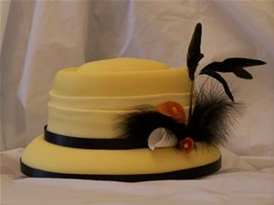 yellow hat cake