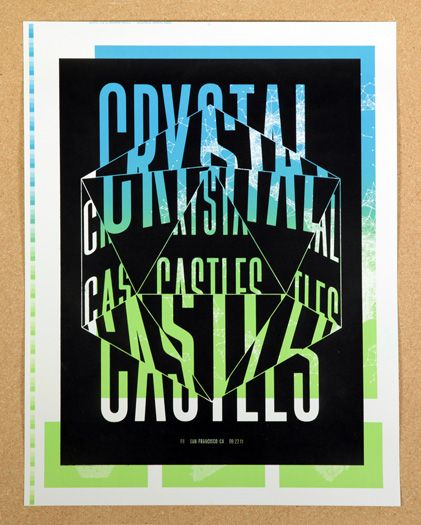 cc belonax2 poster by tim belonax: Crystals, Graphic Design, Color, Illustration, Crystal Castles, Typographic Poster, Type